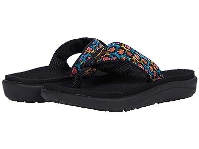 Teva Kids Voya Flip (Little Kid/Big Kid) (Dorinda Black Multi) Girls Shoes