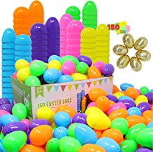 """JOYIN 144 Pieces 2 3/8"""" Easter Eggs + 6 Golden Eggs for Filling Specific Treats, Easter Theme Party Favor, Easter Eggs Hunt, Basket Stuffers Filler, Classroom Prize Supplies Toy"""