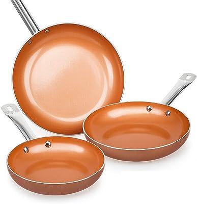 Amazon Com Copper Chef Cookware 9 Pc Round Pan Set
