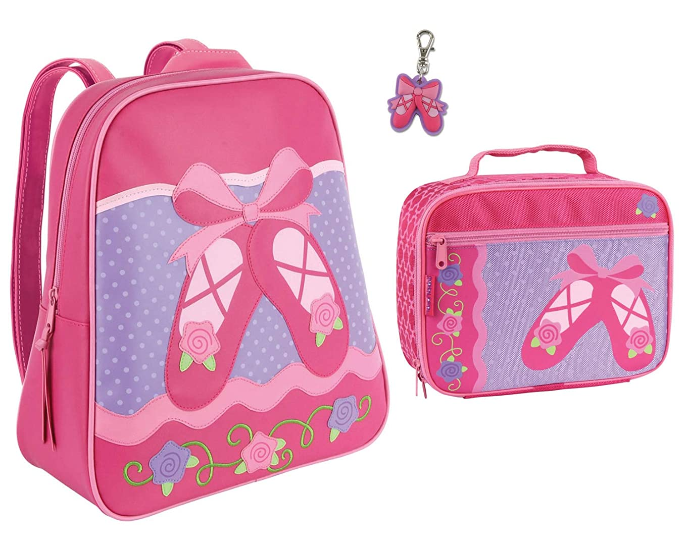 Stephen Joseph Girls Ballet Backpack and Lunch Box with Ballet Shoes Zipper Pull
