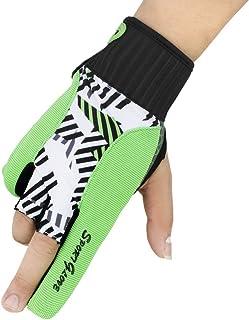 Snow Fox 运动马球保龄球手套左右手专业硅胶防滑腕支撑拇指保护膜 男式