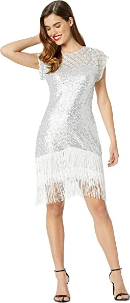 1920s Fringe Del Mar Flapper Dress