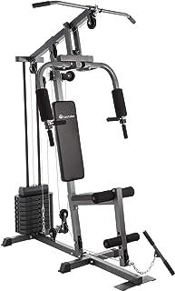 TecTake Multiestación Maquina de musculación | Módulo de Mariposa | Estribo para piernas | 8x4,5 kg | Barra - Varios Modelos