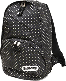 OUTDOOR PRODUCTS(アウトドアプロダクツ)キッズ用 Dパック リュックサック デイパック OUT-0197 BLACK DOT 9563