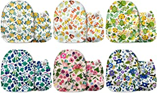 Mama Koala One Size Baby Washable Reusable Pocket Cloth Diapers, 6 Pack with 6 One Size Microfiber Inserts (Flower Power)