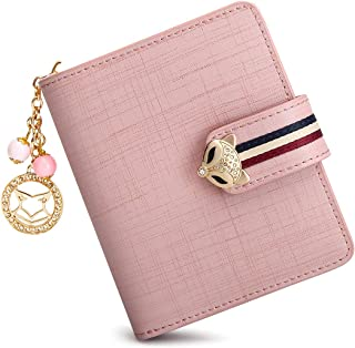 FOXER Leather Wallet for Women Small Bifold Wallet Large Capacity Card Holder