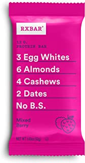 RXBAR, Mixed Berry, Protein Bar, 1.83 Ounce (Pack of 12), High Protein Snack, Gluten Free