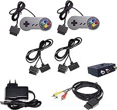DARLINGTON & Sohns Set complet de 2 manettes + rallonge + câble péritel TV + bloc d'alimentation pour Nintendo SNES Super ...
