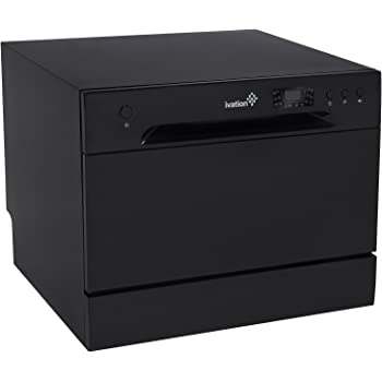 Ivation Portable Dishwasher – Countertop Small Compact Dishwasher for Apartment, Condo, RV, Office & Other Small Kitchens – 6 Place Setting Capacity – Black