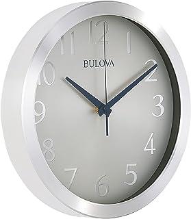 Bulova Relógio de parede C4844 Winston, pacote com 1, prata