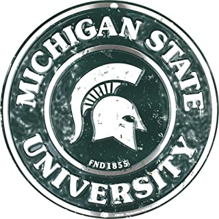 Signs 4 Fun Srcms Michigan State Spartans Round Sign