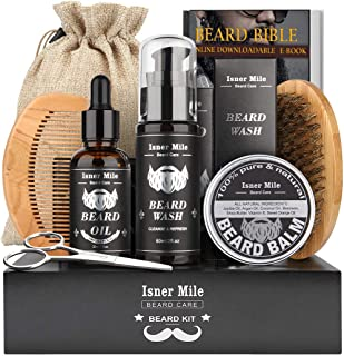 Upgraded Beard Care Kit for Men Beard Growth Grooming & Trimming with Beard Shampoo..