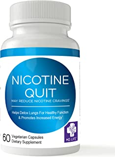 MD. LIFE Nicotine Quit - Stop Smoking – Lung Cleanse – Lung Detox - Fast Acting Herbal Blend – %100 All Natural Smokers Detox – Quit Smoking Within 30 Days* - 60 Vegan Capsules