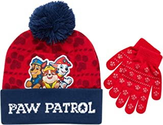 Nickelodeon Paw Patrol Boys Winter Hat and Mitten or Glove Set (Age 2-7)