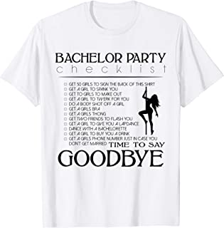 bachelor party checklist shirt