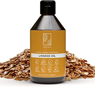 Cura Lignum Boiled Linseed Oil for Wood - Natural Wood Oil Blend with Lemongrass Oil - Wood Polish for Furniture with Lemo...