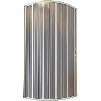 Cabina de ducha fuelle semicircular 90-70 x 90-70 reducible-reversible: Amazon.es: Bricolaje y herramientas