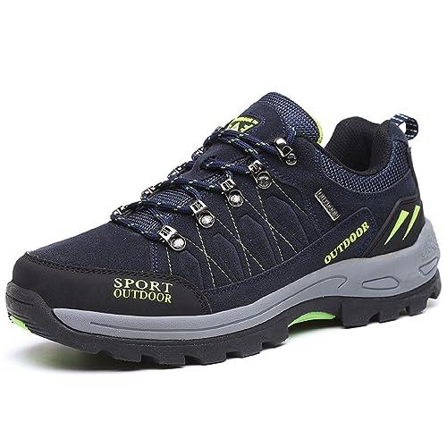 NEOKER Scarpe da Trekking Uomo Donna Arrampicata Sportive All aperto  Escursionismo Sneakers Army Green Blu 5ccca96d933