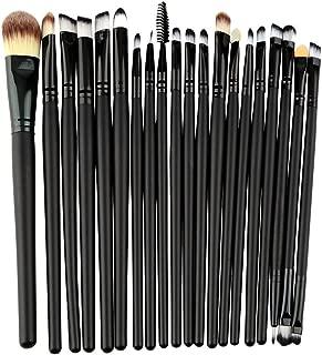 Yogasada 20 Pcs Makeup Powder Foundation Eyeshadow Eyeliner Lip Cosmetic Brushes Set Black
