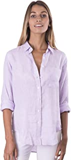 Women's Natural Cool Linen Button-Down Loose Shirt   Summer Winter Casual Chic