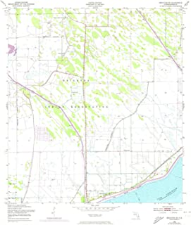 YellowMaps Brighton SE FL topo map, 1:24000 Scale, 7.5 X 7.5 Minute, Historical, 1953, Updated 1973, 26.8 x 23 in