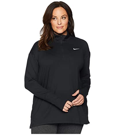 Nike Element 1/2 Zip Top (Sizes 1X-3X) (Black) Women