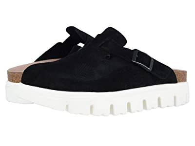 Birkenstock Boston Chunky (Black Suede) Women