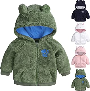 Infant Baby Girls Boys Fleece Hoodie Jacket Coat Winter Warm Cardigan with Ears