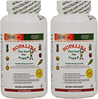 Nopalina Flax Seed Plus Fiber Foormula 120 Capsules