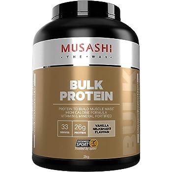MUSASHI(ムサシ) バルク マスゲイン プロテイン ブレンド 2kg (バニラミルクシェイク味)[海外直送品]