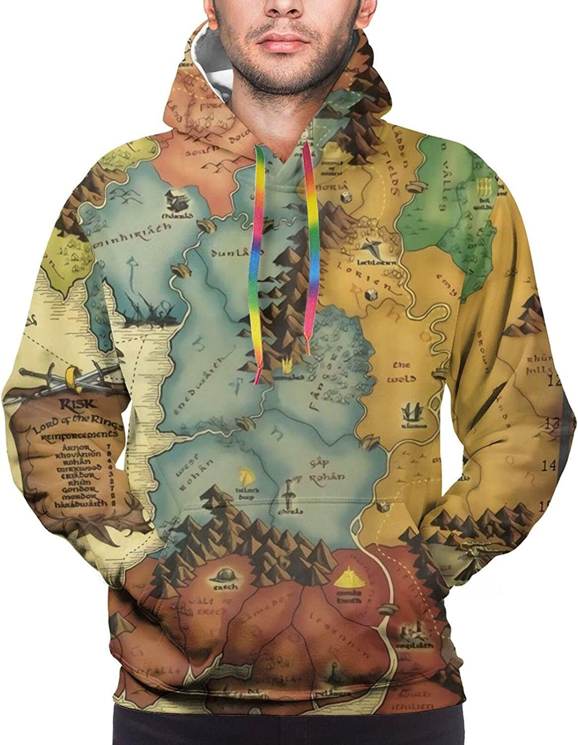 Hoodie For Teens Boys Girls Colorful Map Adventure Hoodies Outdoor Sports Sweater