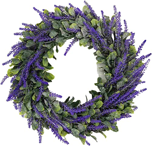 wholesale 15'' Lavender Wreath Easter Wreath Decor Artificial lowest Purple Flower Wreath, Front Door Wreath Hanging Ornament sale for Indoor Outdoor Home Office Wall Wedding Holiday Decor outlet sale