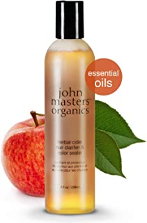 John Masters Organics - Herbal Cider Hair Clarifier & Color Sealer - Apple Cider Vinegar Infused with Essential Oils Restore Balance to Color Treated Hair - 8 oz