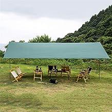 Camping Tent Tarps, Waterproof Lightweight Sun Shade Shelter, Beach Sunshade Hammock Rain Fly Sun Shelterswith Tarp Poles,...