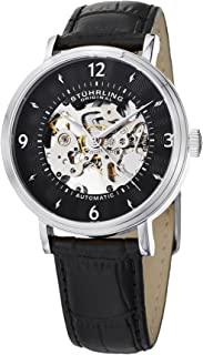 Stuhrling Original Men's 647.01SET Legacy Automatic Skeleton Black Watch with Additional Strap