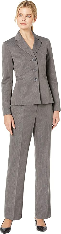 Three-Button Peak Lapel Pants Suit