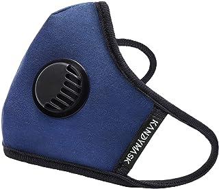 KandyMask Herbruikbaar Filter Mondkapje - Blauw Donkerblauw - Hoogwaardig Comfortabel Design Mondmasker met Ademventielen ...