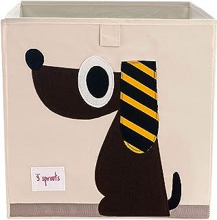 3sprouts Boîte de rangement Motif chien