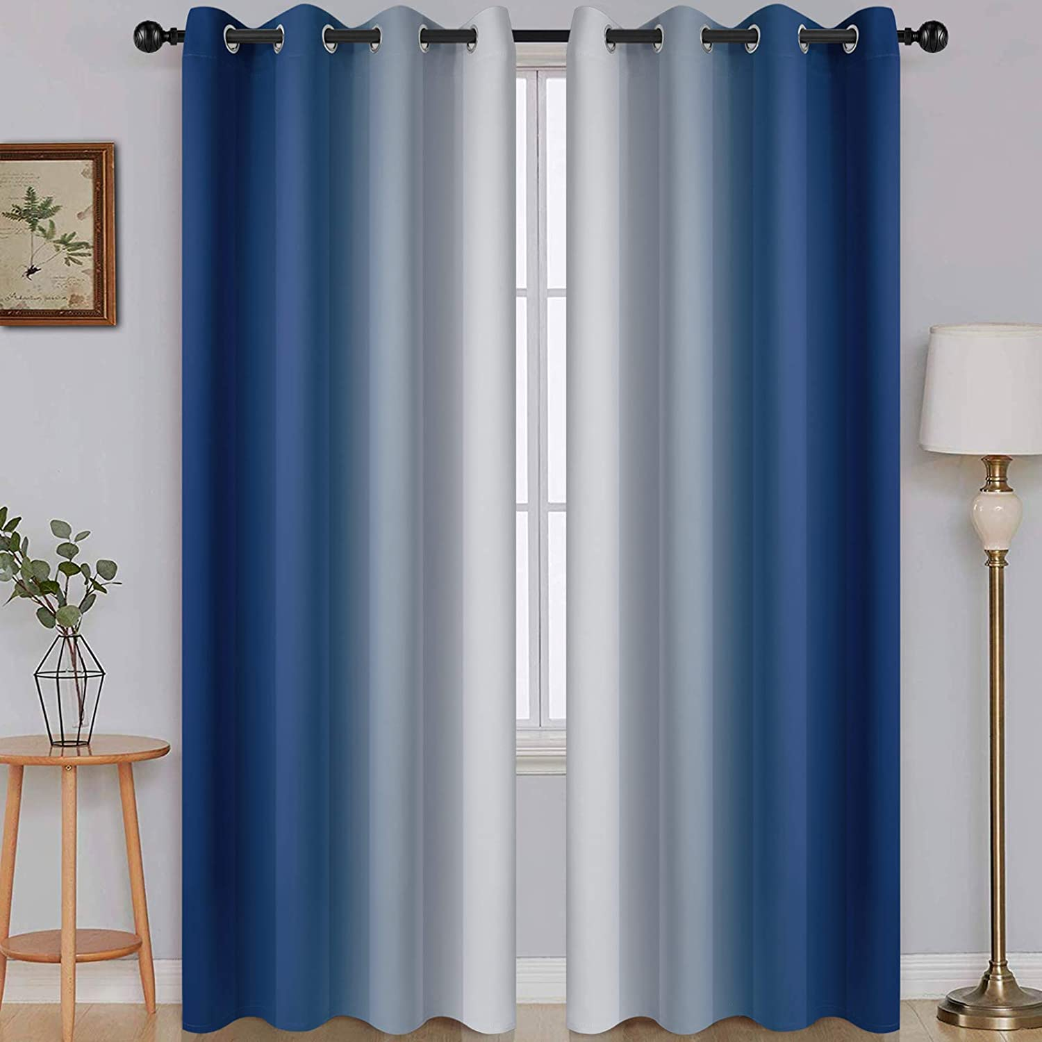 SimpleHome Ombre Room Darkening Low price for Curtains Los Angeles Mall Living Light