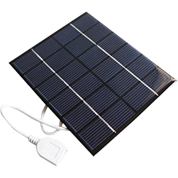 GOGOUPI 5W 5V Solar Panel Battery Charger DIY Solar Module with USB Port Portable Outdoor Solar Charging Board for Mobile Phones