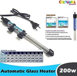 COLOURFUL AQUARIUM® - RS Electrical High Glass Heater to Aquarium Fish Tank | Auto On/Off (200w High Glass Heater)