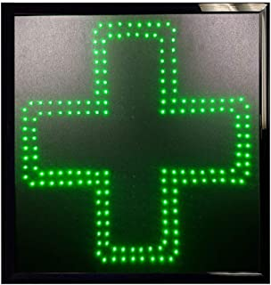 Bright Green Cross Medical Marijuana Display Sign Wired LED On/Off Switch (19