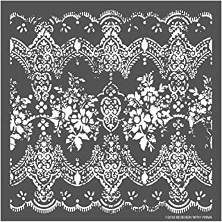 Prima Marketing Inc Redesign 3D Stencil - Distressed Lace Mixed