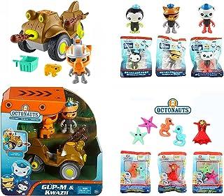 Fisher Price The Octonauts 7pc Set - Includes GUP M & Kwazi Playset, 3 Glow in The Dark Articulated Figures & 3 Sea Creatu...