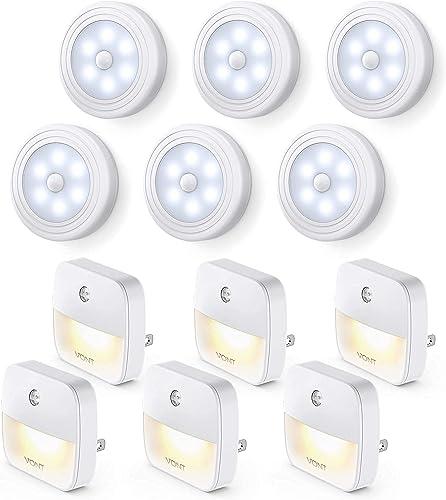 new arrival Vont Home Night Light Starter Pack 2 - 6-Pack Motion Sensor Light + 6-Pack Aura Warm Night Lights outlet sale - new arrival Smart Night Light for the Bedroom, Hallways, Closets, & Corners - Sleek Design, Safe, & Long-Lasting outlet sale