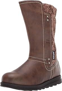 Muk Luks Women's Stacy Boots Mid Calf, Brown, 7 M US