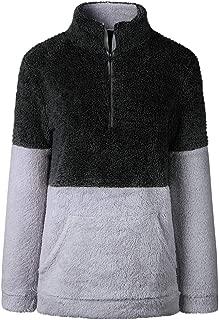 CROSS1946 女式 1/4 拉链立领羊绒套头上衣中性羊毛运动衫