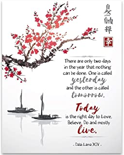 There Are Only Two Days In The Year That Nothing Can Be Done - Dalai Lama - 11x14 Unframed Art Print - Great Motivational and Inspirational Gift and Decor for School, Office and Home Under $15