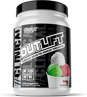 Outlift Pre-Workout Powerhouse, Best Pre Workout with Citrulline, BCAA, Creatine, Beta-Alanine, Banned Substance Free, Ita...