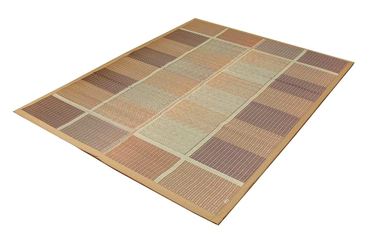 病気の透けるスモッグイケヒコ い草ラグ カーペット 国産 『FUBUKI』 ブラウン 約191×250cm